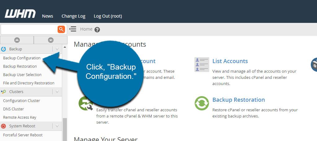 Backup Configuration