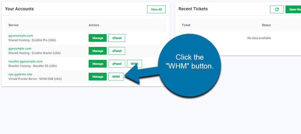 WHM Access