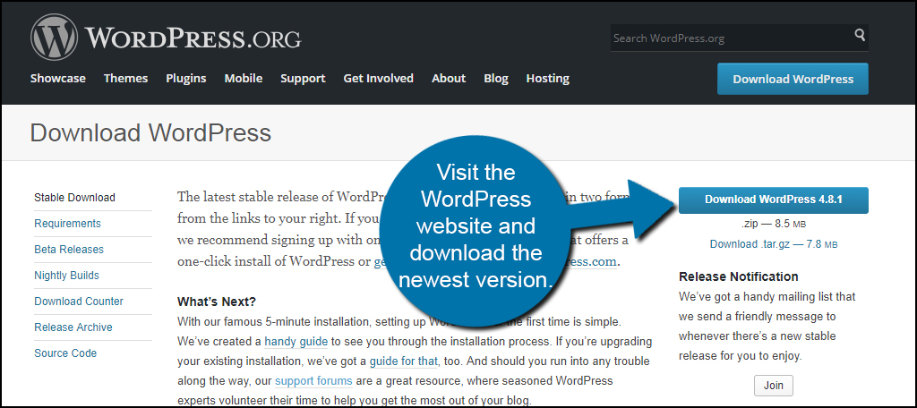 file downloading when going to wordpress iste