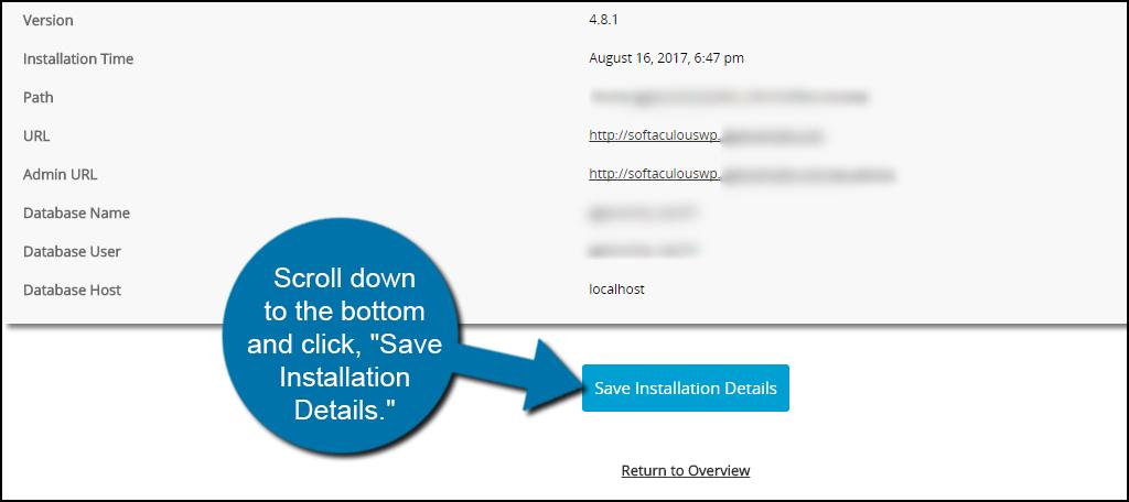 Installation Save