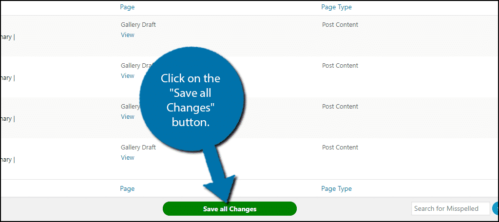 Save all Changes