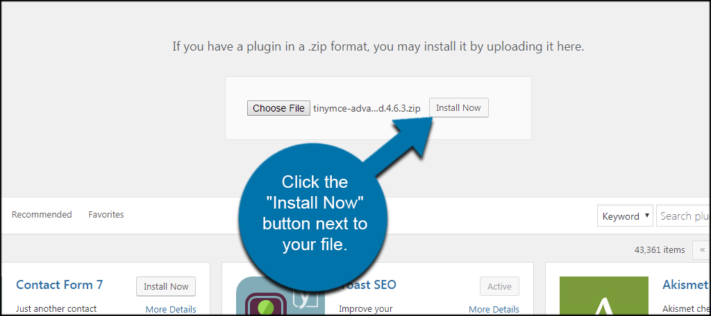 Install Now Button