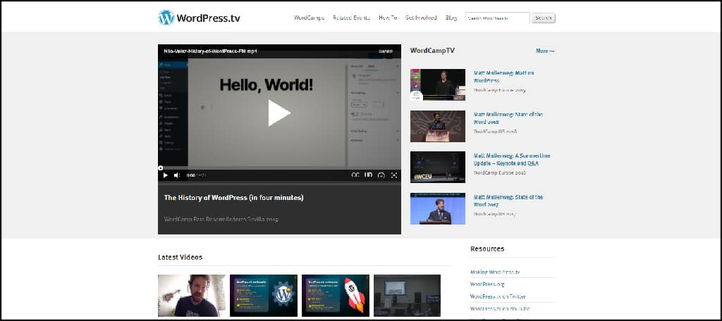 WordPress TV from WordCamp