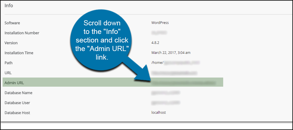 Admin URL
