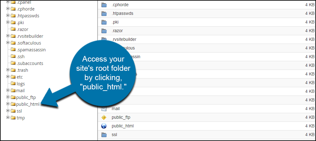 Click Public HTML