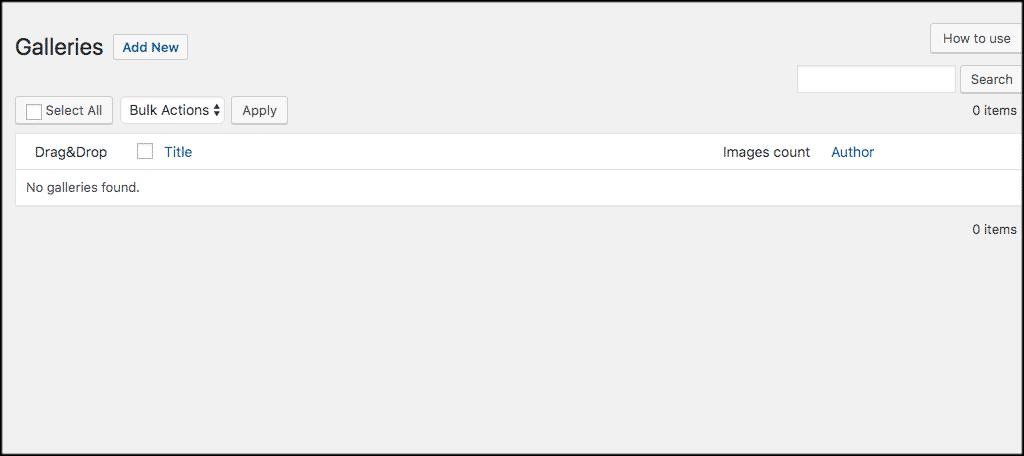 Click add new button