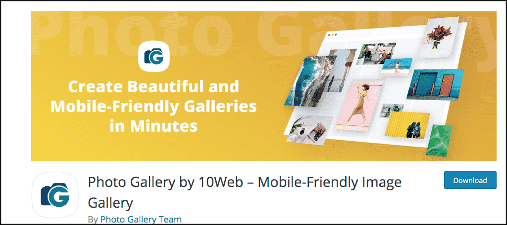 Photo gallery plugin by 10 Web