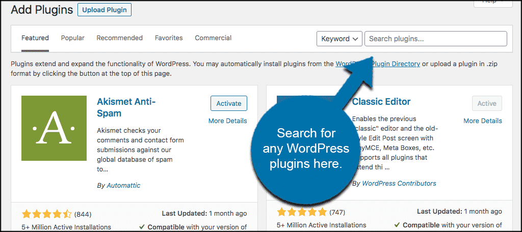 Search best wordpress plugins