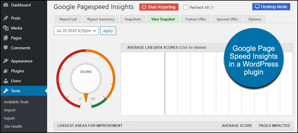 reduce bounce rates with a Google Pagespeed Insights WordPress plugin