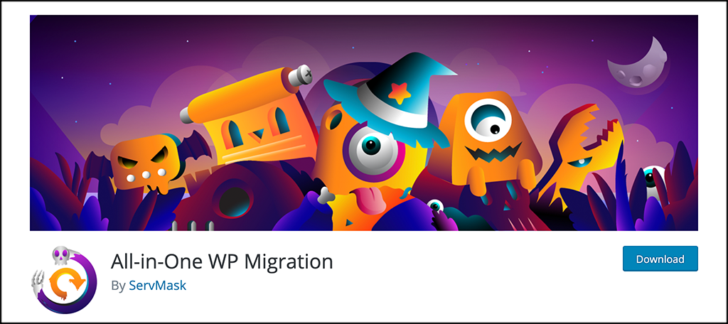 All in One WP Migration to move a wordpress site