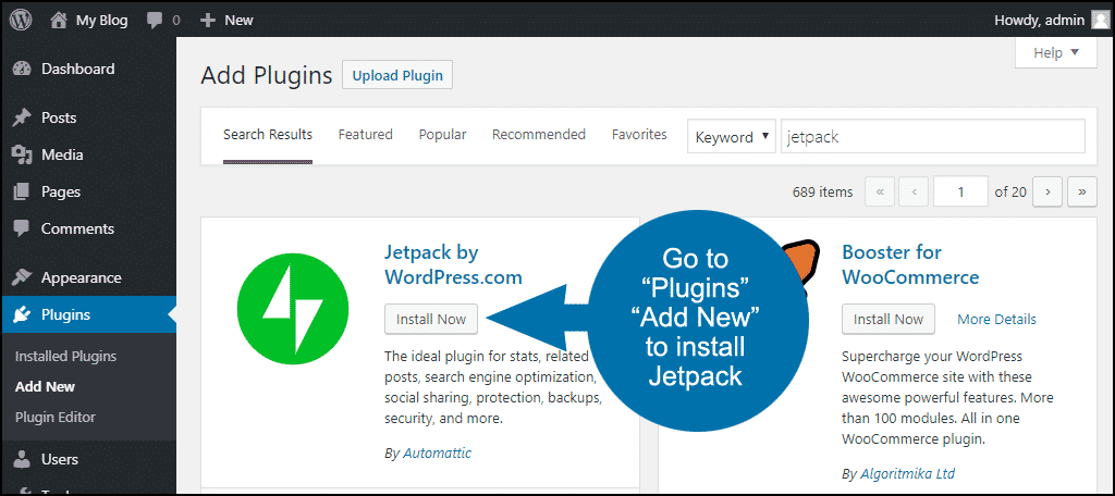 install and activate Jetpack