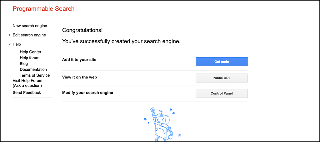 Search Engine Created