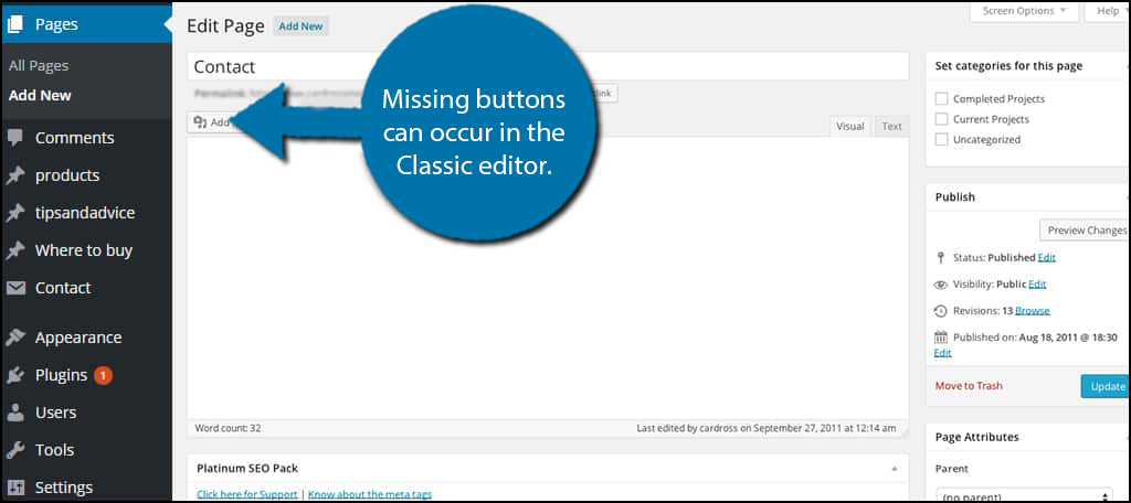 Missing Buttons