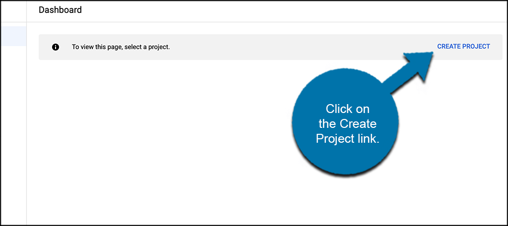 Click on create project button