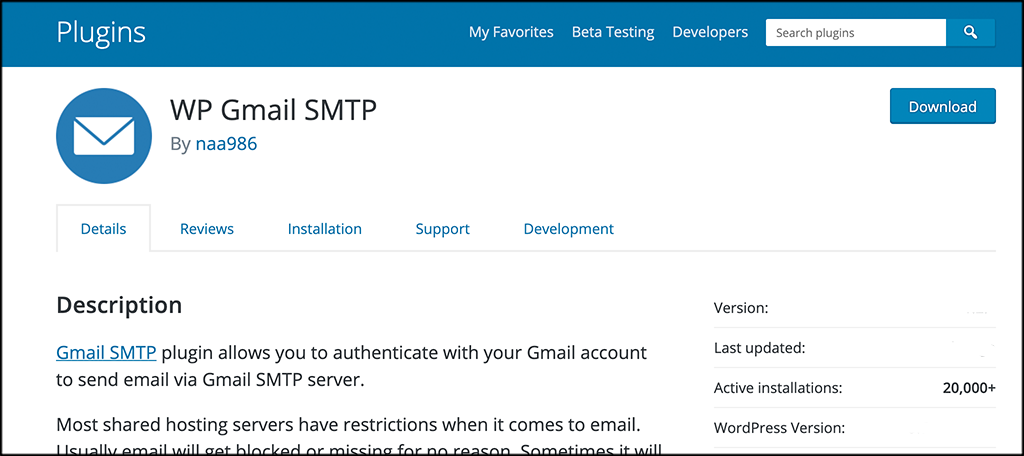 WP-gmail smtp plugin