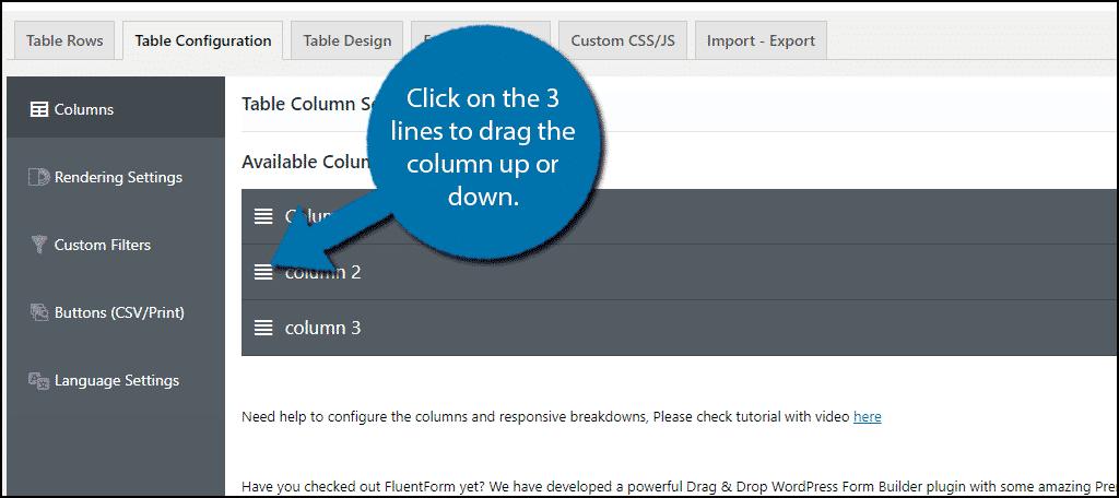 Rearrange Columns