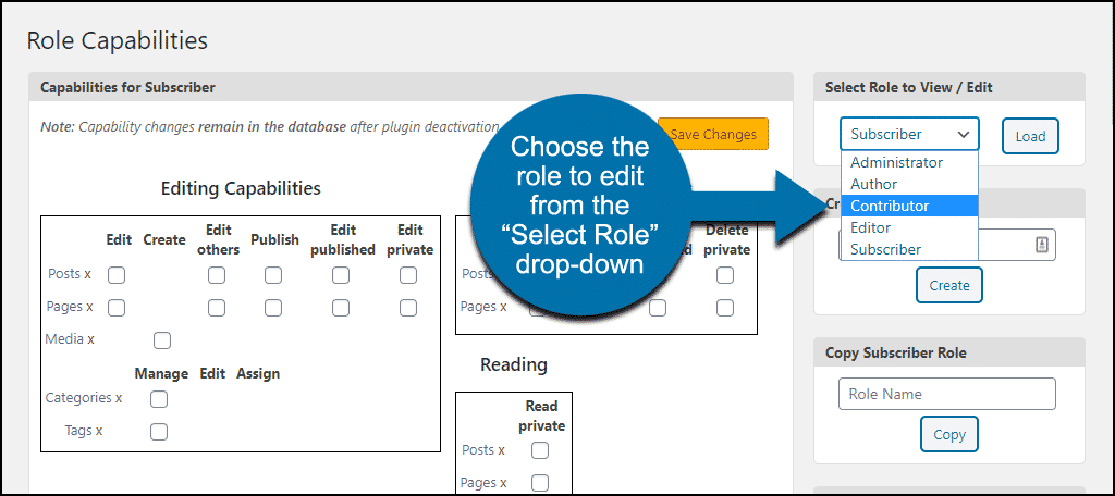 choose the role you want to edit