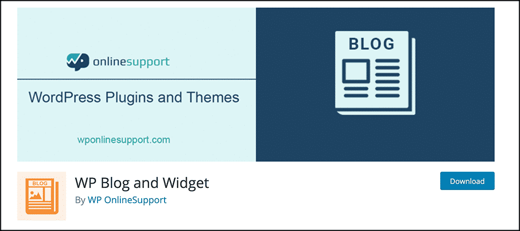 WP blog and widget plugin