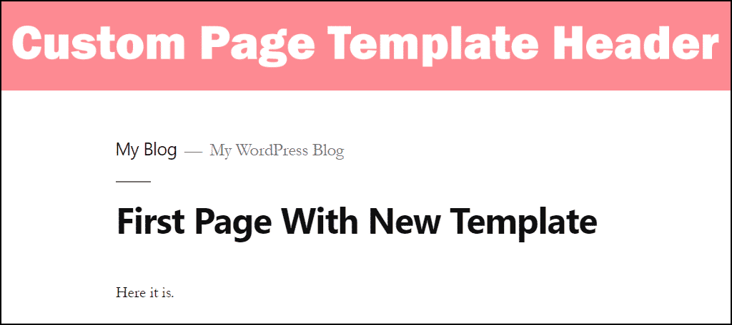 custom WordPress template header image