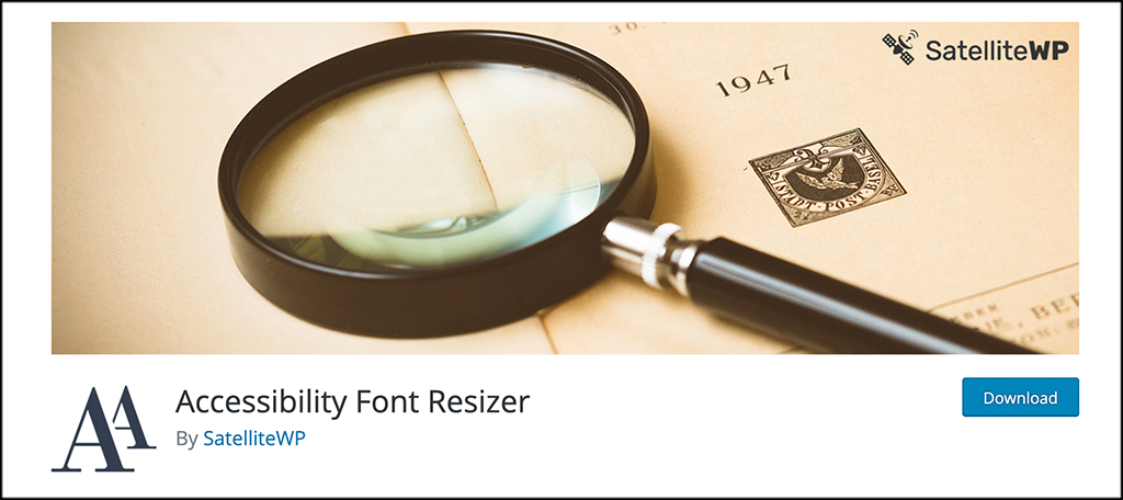 Accessibility Font Resizer