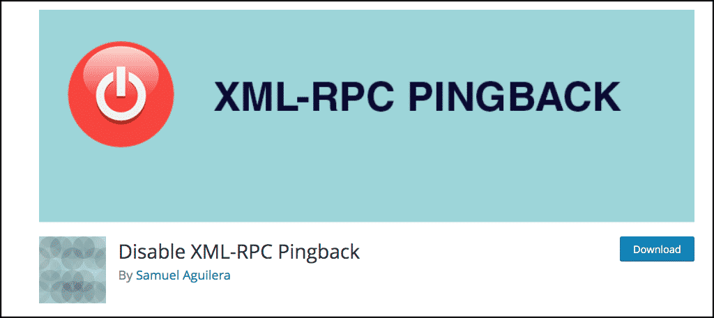 Disable xmlrpc.php Pingback