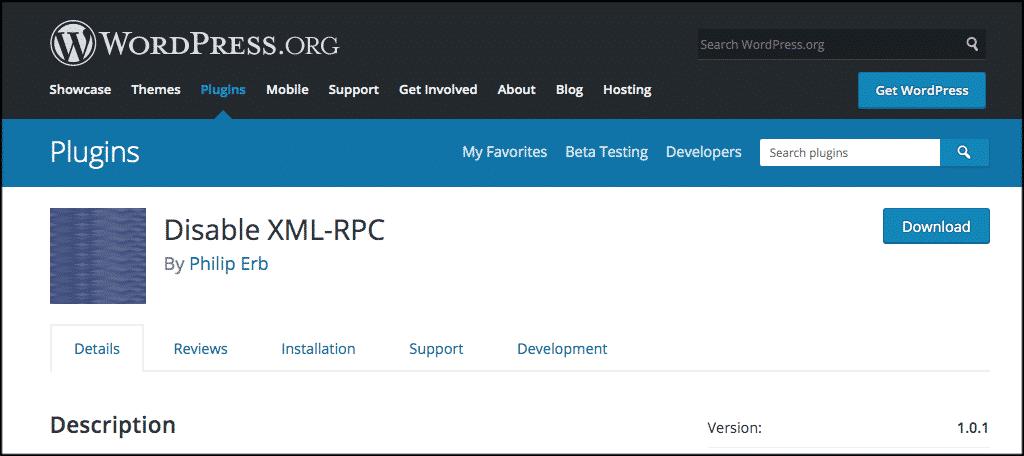 Disable XMLRPC.PHP