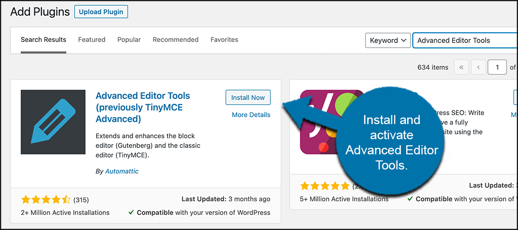 INstal; activate advanced editor tools