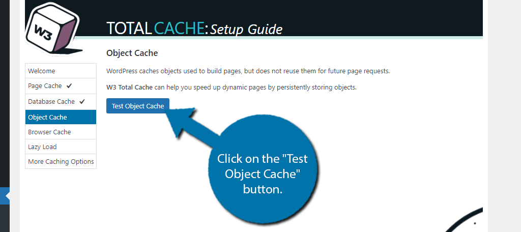 Test Object Cache