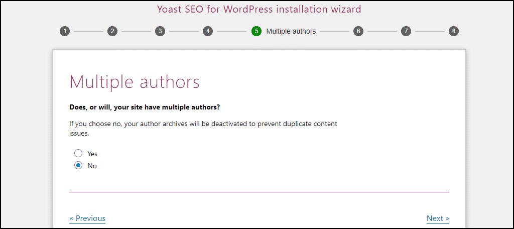 Yoast SEO multiple authors setting
