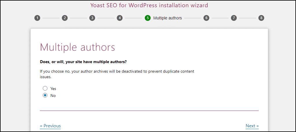 Yoast SEO multiple authors setting