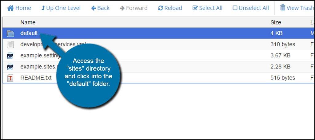 Default Folder