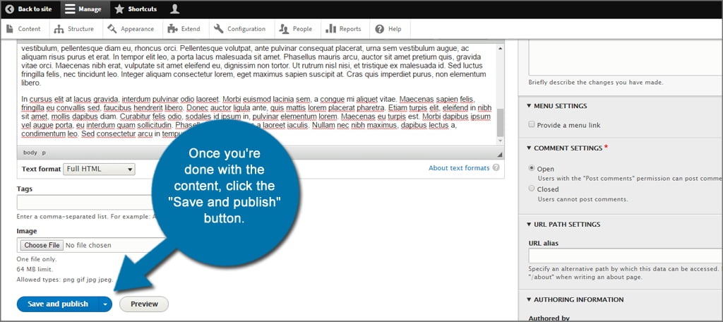 Drupal Article Save