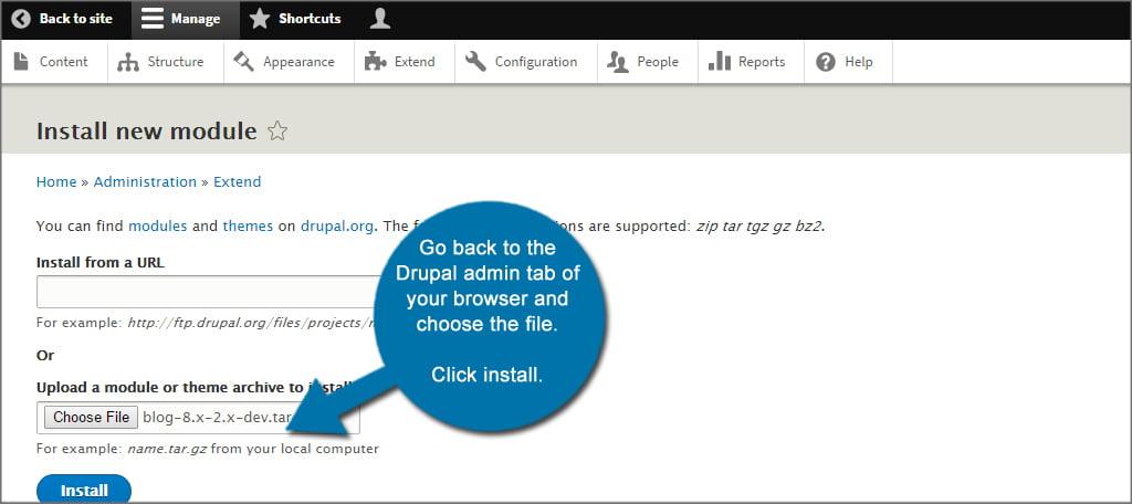Drupal Blog Install