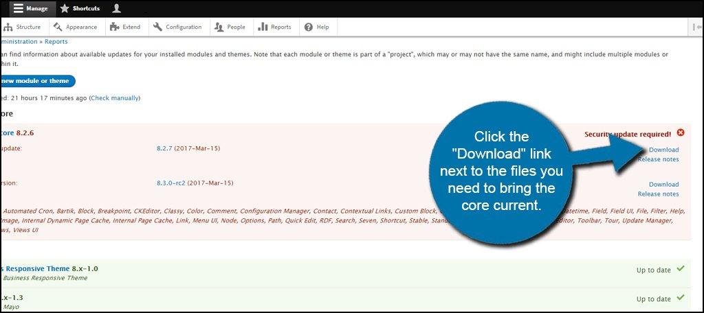 Drupal Core Download