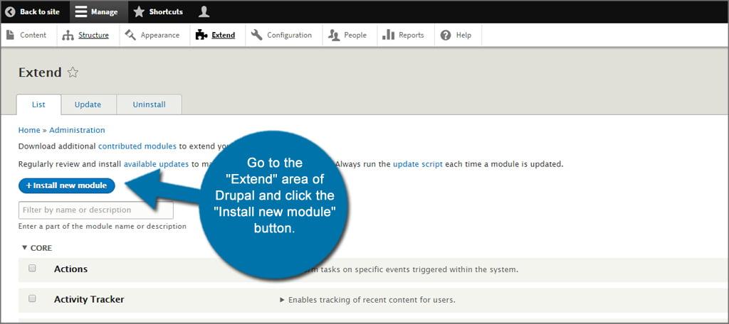 Drupal Install New Module