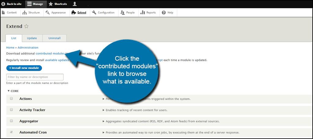 Drupal Module Browse