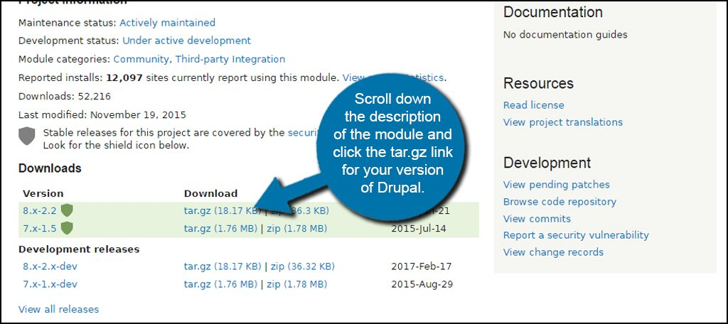 Drupal Module Download Link