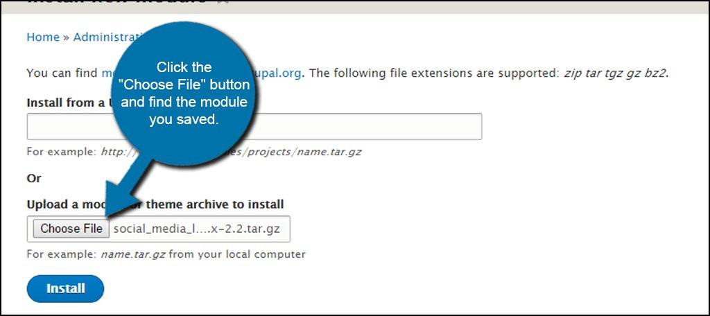 Drupal Module Upload