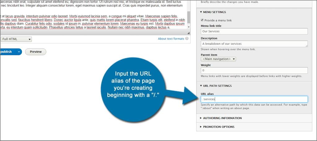 Drupal Page URL Alias