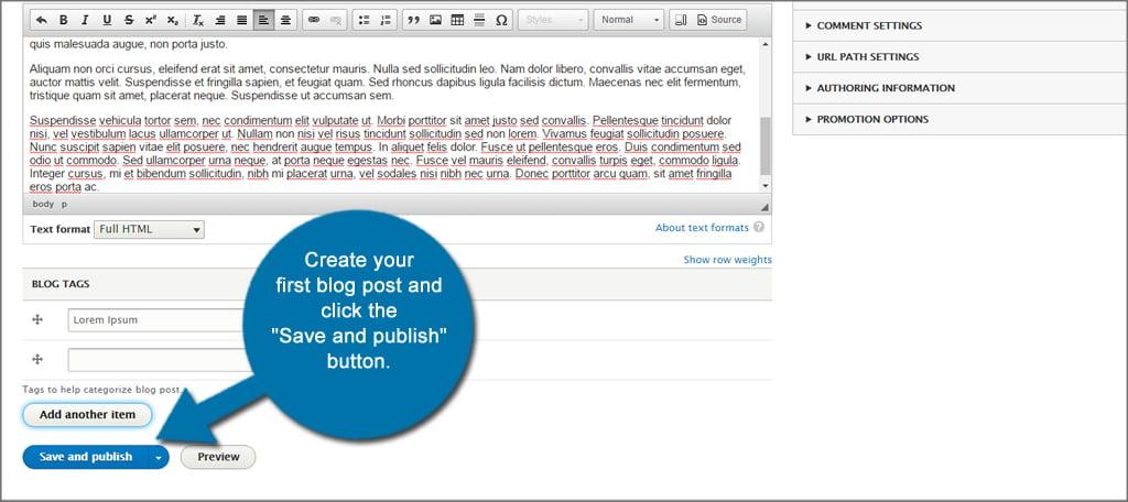 Drupal Save Blog