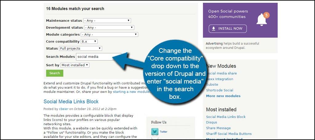 Drupal Social Search