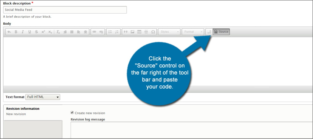 Drupal Source Code Button