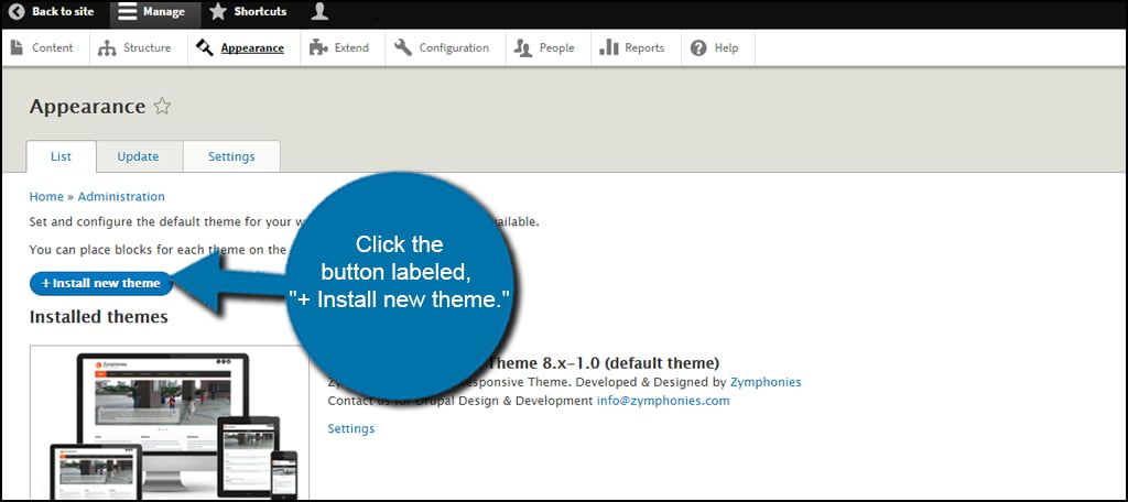 Drupal Theme Install