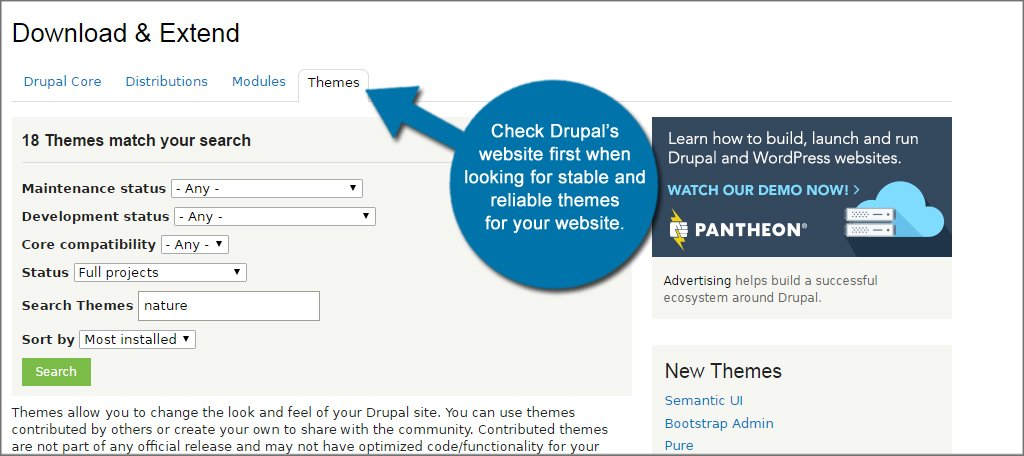 Drupal Theme Search