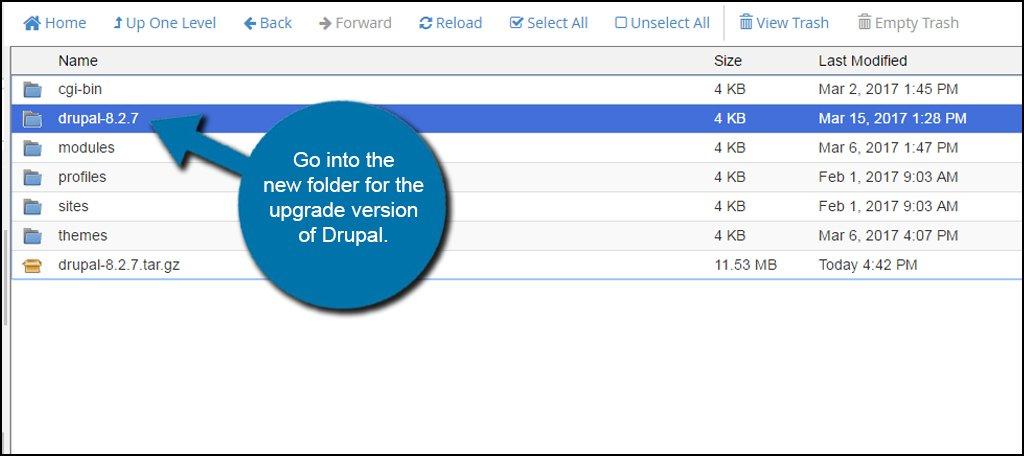 Drupal Upgrade Folder