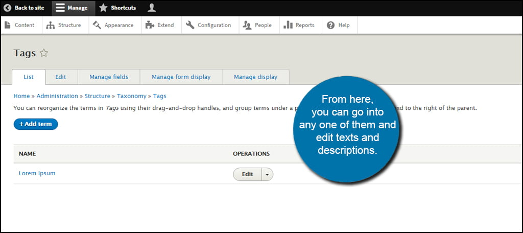 How to Manage an Existing Vocabulary in Drupal - GreenGeeks