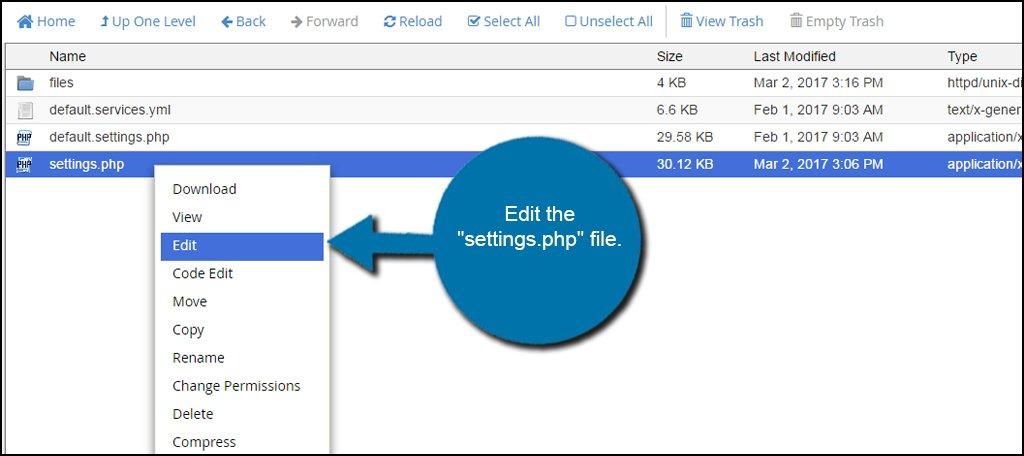 Edit Settings File