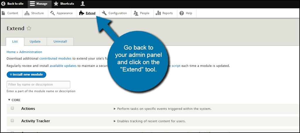 Extend Tool Click