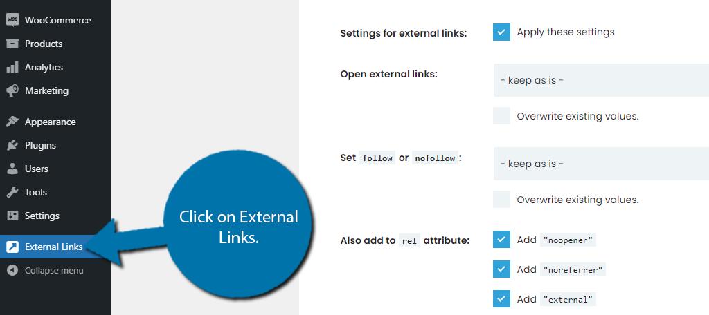 External Links Option