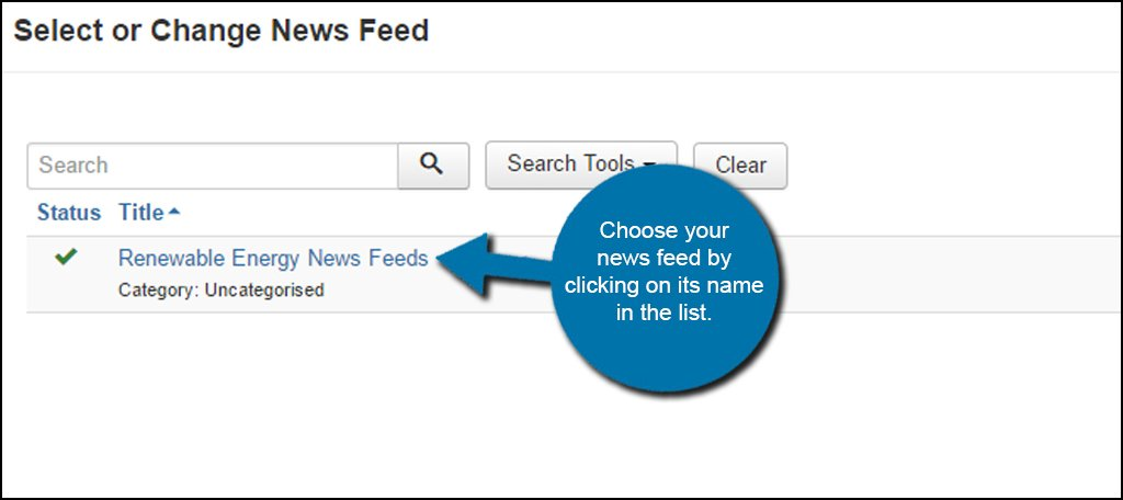 Joomla Choose News Feed